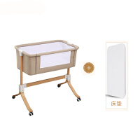 20190708065348219欧式婴儿床新生儿多功能便携式实木bb抖音宝宝床拼接大床