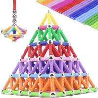 智博�反帕Π糁橇ι⒀b球男孩�和�益智磁�F拼�b女孩�e木吸�F石玩具