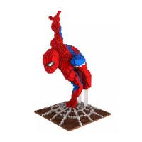 微积木小颗粒复仇者漫威英雄美国队长蜘蛛侠益智拼装玩具兼容乐高 蜘蛛侠 2200颗粒