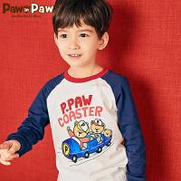 【新品6折 到手价:179】Pawinpaw卡通小熊童装春男童长袖T恤中小童拼色套衫