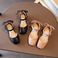 新款女童凉鞋包头儿童半凉单鞋中大童小高跟宝宝童鞋