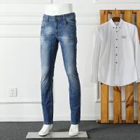 看庭前花开花落!一款来自春天的男装牛仔裤 素蓝 修身 很适合你