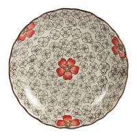 八寸陶瓷盘子圆形创意盘子瓷盘餐具菜盘鱼盘平盘圆盘汤盘子家用
