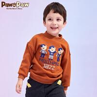 【3件3折 到手价:167】【加绒】Pawinpaw卡通小熊童装冬男童卫衣小童卡通卫衣