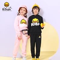 【3折价:179.7】B.duck小黄鸭童装儿童套装女童春装2020新款洋气男童卫衣运动套装BF1181099