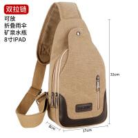 包包款男士胸包帆布包斜挎包男包单肩包韩版小背包休闲腰包