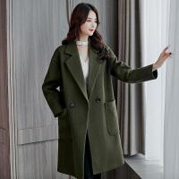 茉蒂菲莉 毛呢外套 女士中长款大码宽松呢子大衣冬季新款韩版女式时尚休闲舒适百搭女装