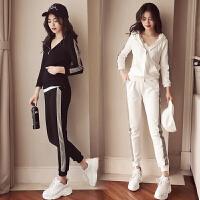 运动休闲套装女春秋2019新款时尚韩版潮牌嘻哈洋气跑步裤子两件套