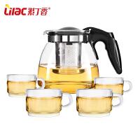 水壶花茶壶红茶泡茶壶玻璃茶壶整套过滤茶具茶杯套装