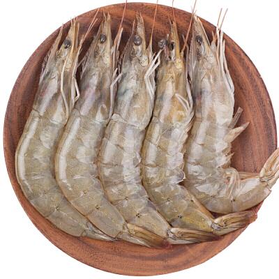 速鲜 全国顺丰包邮 进口厄瓜多尔白虾 2KG 盒装 海虾 对虾 基围虾 冷冻海产船冻保鲜 顺丰包邮  25%少量冰衣保鲜