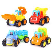 惯性车工程车儿童小汽车宝宝挖掘机玩具车男孩套装