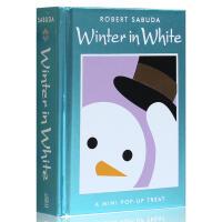 英文原版 豪华立体书Winter in White: Pop-up Treat 白色的冬天 3-6-8岁学习英语玩具游