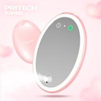 匹奇LED灯化妆镜喷雾补水仪冷喷便携镜子美颜灯加湿+充电宝功能
