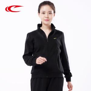 赛琪长袖针织卫衣套装秋开衫运动服运动装女士休闲运动外套装秋194722