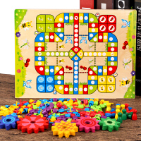 木制多功能飞行棋跳棋五子棋象棋斗兽棋桌面游戏儿童益智玩具