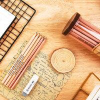 晨光文具木杆铅笔HB/2H/2B六角形考试铅笔儿童三角正姿铅笔50支装AWP30411