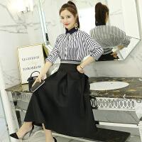 衬衫配裙子套装春装2018新款女时髦套装韩版套装裙两件套连衣裙潮