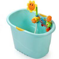 泡澡桶浴桶可坐大号厚 儿童洗澡桶宝宝洗澡盆沐浴桶婴儿浴盆
