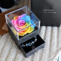 礼盒红玫瑰花送男女朋友情人节生日礼品首饰盒汽车摆件惊喜的创意节日礼品