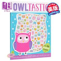 【中商原版】贴纸玩乐书:猫头鹰 Activity Books Owltastic 益智游戏书 玩具书 亲子绘本 贴纸 3
