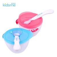 勺子辅食碗带盖练习吃饭 宝宝碗勺套装儿童小餐具婴儿感温