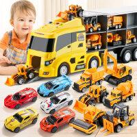 儿童玩具车消防工程货柜合金小汽车套装玩具男孩童0-1-2-3-4-5岁