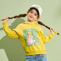 【2件3折:65.1】巴拉巴拉旗下巴帝巴帝女童卫衣连帽儿童上衣韩版宽松洋气2020春装新款女