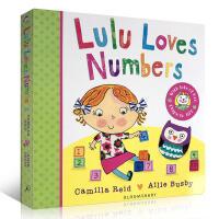 英文原版 Lulu Loves Numbers 露露爱数字 幼儿故事图画 纸板翻翻书 露露 Lulus系列 启蒙认知书