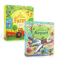 【全店300减100】英文原版Look inside: a Farm/an Airport 偷偷看里面系列 农场 /机场