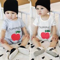 婴儿短袖连体衣夏装6-12个月宝宝衣服男新生儿百天幼儿女婴0一1岁