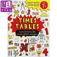 【中商原版】功课好帮手 乘法表(7岁+)英文原版 Help With Homework Times Tables
