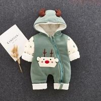 新生儿圣诞衣服可爱网红婴儿服宝宝冬装加厚棉衣外出服抱衣连体衣