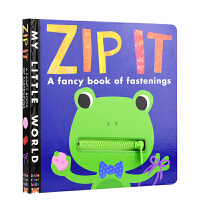 英文原版绘本 My Little World Zip It 幼儿认知启蒙 拉链系绳操作玩具书 大开本 小老虎出版社 0