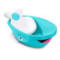 费雪 Fisher-Price 宝宝洗浴工具婴儿浴盆 可坐可躺 2合1蓝鲸