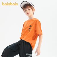 【2件6折价:40.1】巴拉巴拉短袖T恤儿童打底衫2021夏装新款运动衫男童中大童印花潮