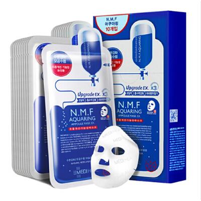 可莱丝N.M.F针剂水库保湿补水面膜 针剂水库面膜 1盒(10片装)深入肌肤  补水保湿