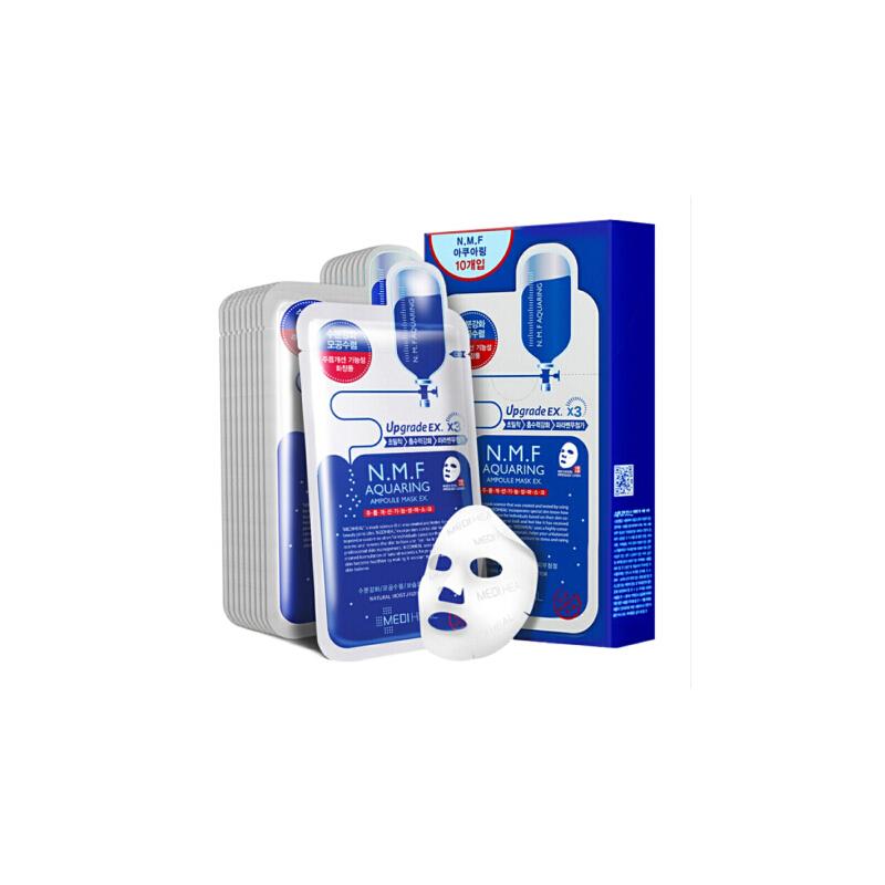 可莱丝美迪惠尔(Mediheal)水润保湿面膜10片水库针剂(补水 男女护肤适用) 深入肌肤  补水保湿