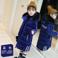 女童棉衣冬装2018新款韩版儿童洋气羽绒反季金丝绒外套潮