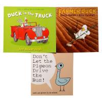 【全店300减100】图书馆协会推荐3本套装 英文原版儿童读物Don't Let the Pigeon Drive th