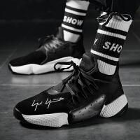 男鞋夏季新款秋季潮鞋跑步休闲运动鞋韩版潮流百搭黑鞋潮