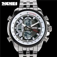 双显手表男士钢带腕表时尚个性男学生运动电子表
