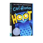 英文原版 Hoot 猫头鹰的叫声 拯救猫头鹰 2003年 纽伯瑞银奖 Carl Hiaasen