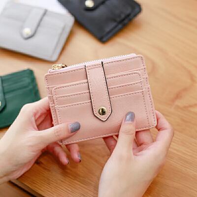卡包女式韩版薄款多卡位简约迷你证件位小零钱包