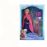 冰雪奇缘娃娃艾莎公主玩具爱莎仿真芭芘比洋娃娃套装女孩单个爱沙 一代安娜6关节 普通6关节身体 31CM