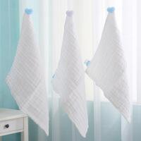 阳光菊 婴儿六层米白水洗纱布手帕 宝宝口水巾 无荧光剂