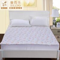 富安娜出品 馨而乐简约小清新印花床垫保护垫床笠款橡筋款