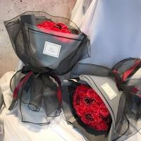 康乃馨玫瑰手捧香皂玫瑰花束干花情人草情人节教师母亲节生日礼物惊喜的创意节日礼品
