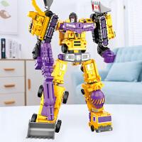 变形玩具金刚合体机器人大黄蜂汽车吊车工程车合金男孩