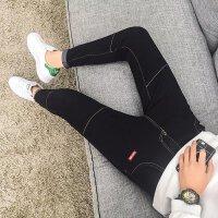男士牛仔裤韩版青少年修身弹力秋冬季休闲男生港风小脚长裤子潮流