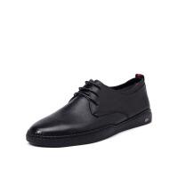 星期六男鞋(ST&SAT)19年专柜同款牛皮革系带舒适商务鞋正装鞋SS91129801